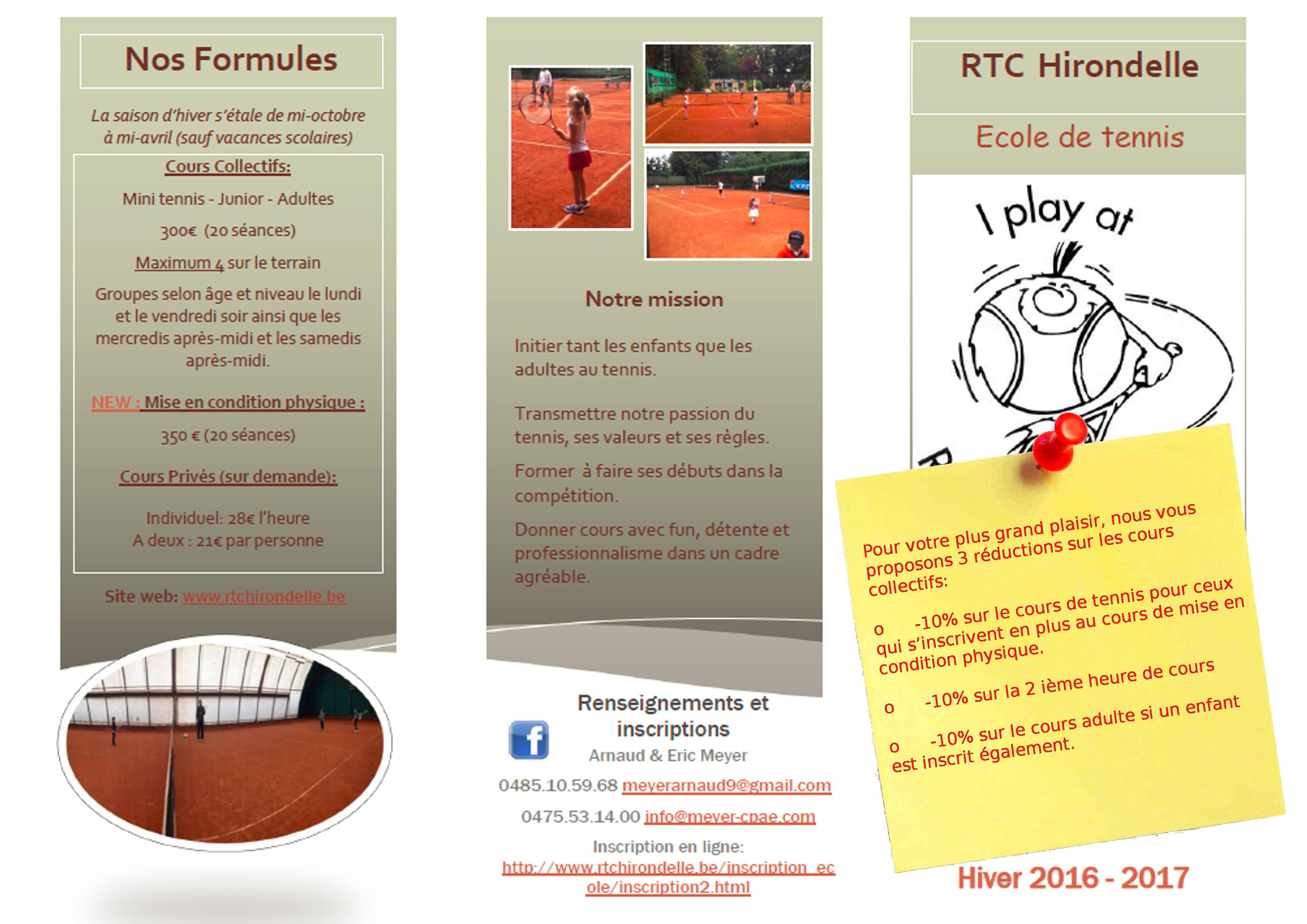 Royal tennis club hirondelle ecole for Cours de tennis en ligne